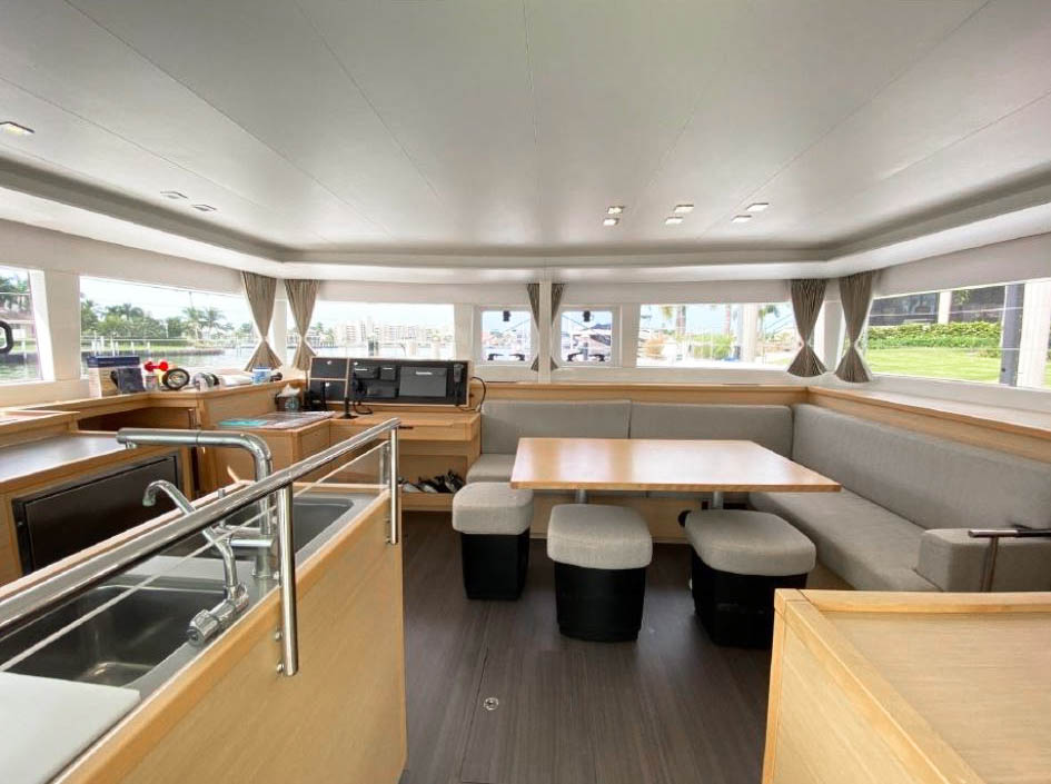 Lagoon 450 Charter Saloon and Galley