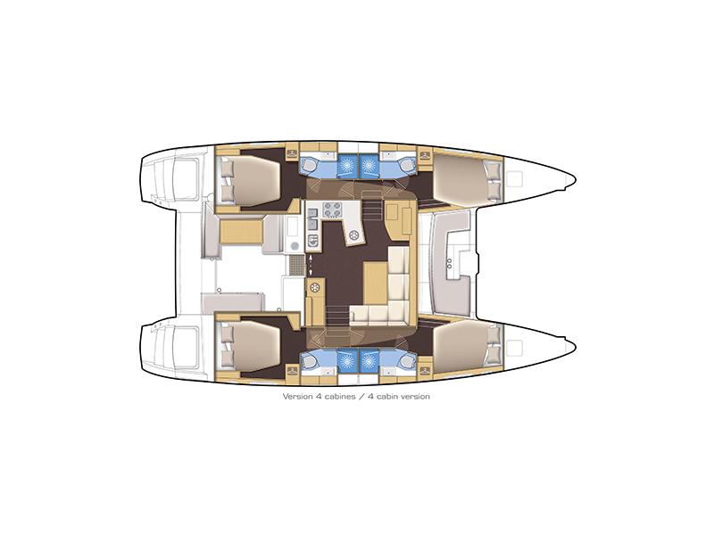 Lagoon 450 Charter Vessel Layout
