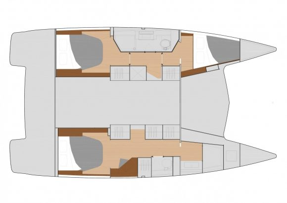 Fountaine Pajot Lucia 40 Charter Layout