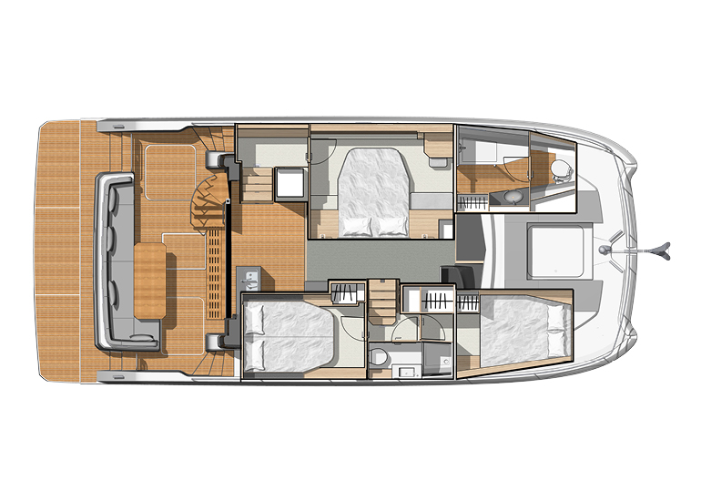 Fountaine Pajot MY 40 Charter Layout